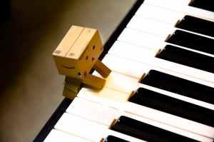 close up of piano