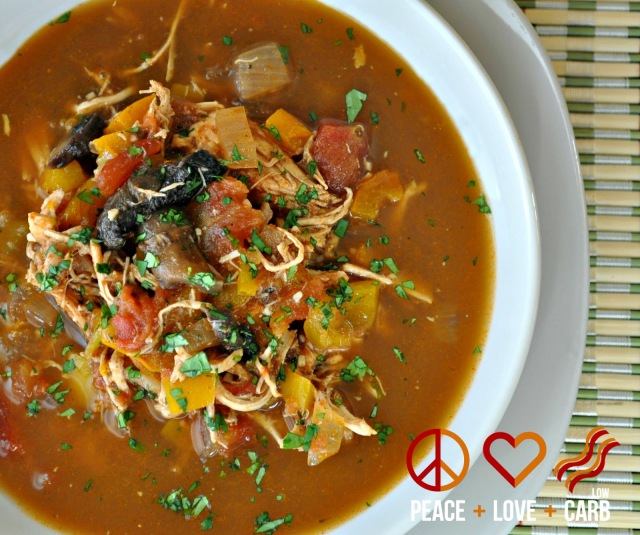Chicken Fajita Soup - Low Carb, Paleo, Gluten Free