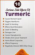 Image result for harmful sde effects of turmeric